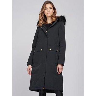 Barbour International Barbour International Aragon Detachable Faux Fur Waterproof Coat - Black