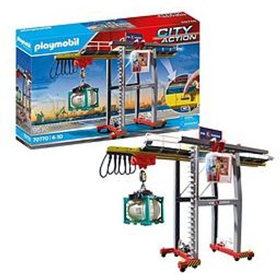 Playmobil 70770 City Action Cargo Crane With Container