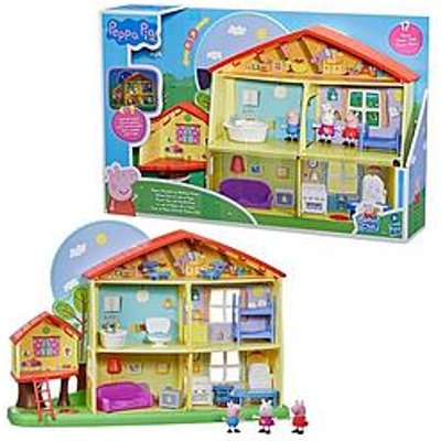 Peppa Pig Peppa Pig Peppa¿S Adventures Peppa'S Playtime To Bedtime House Pre-School Toy, Speech, Light And Sounds, Ages 3 And Up