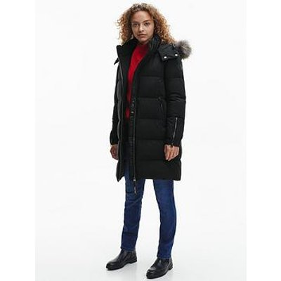 Calvin Klein Calvin Klein Modern Sorona Faux Fur Padded Coat - Black