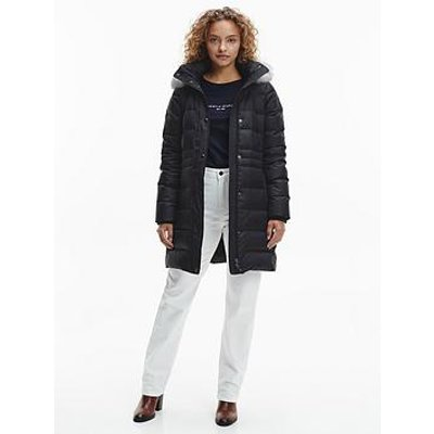 Tommy Hilfiger Tommy Hilfiger Essential Tyra Faux Fur Down Padded Coat - Black