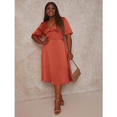 Chi Chi London Curve Jaslene Dress - Rust