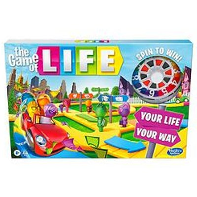 Hasbro The Game Of Life Game, Family Board Game For 2 To 4 Players, For Children Aged 8 And Up, Includes Colourful Pegs