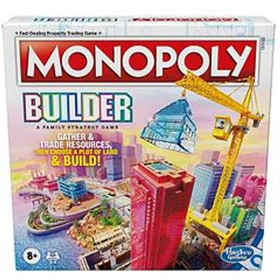 Hasbro Monopoly Builder Board Game, Strategy Game, Family Game, Games For Children, Fun Game To Play, Family Board Games