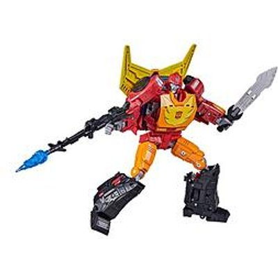 Transformers Transformers Toys Generations War For Cybertron: Kingdom Commander Wfc-K29 Rodimus Prime With Trailer Action Figure, 8 And Up, 19 Cm