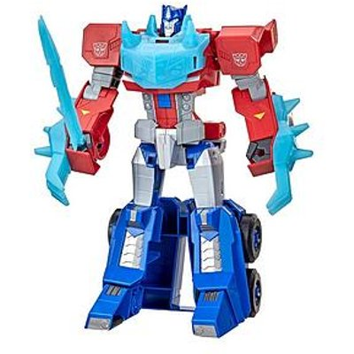 Transformers Transformers Toys Bumblebee Cyberverse Adventures Dinobots Unite Roll NÂ¿ Change Optimus Prime Action Figure, 6 And Up, 10-Inch