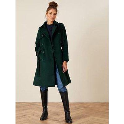 Monsoon Monsoon Wren Sustainable Wool Trench Coat
