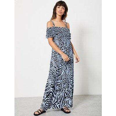 Mint Velvet Mint Velvet Frida Print Bardot Maxi Dress