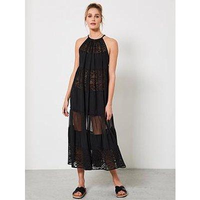 Mint Velvet Mint Velvet Black Tiered Beach Midi Dress
