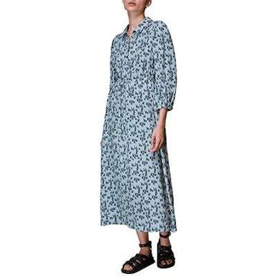 Whistles Swallows Print Midi Dress