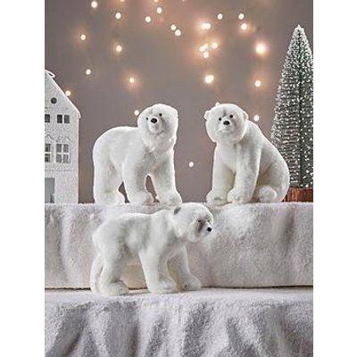 Cox & Cox Plush Polar Bears Set Of 3