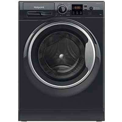 Hotpoint Hotpoint Nswm1044Cbsukn 10Kg Load, 1400 Spin Washing Machine - Black