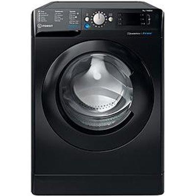 Indesit Innex Bwe91484Xkukn 9Kg Load, 1400 Spin Washing Machine - Black