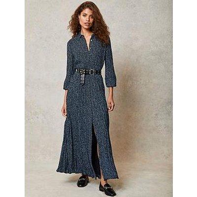 Mint Velvet Mint Velvet Teagan Spot Print Crinkle Shirt Midi Dress