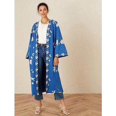 Monsoon Bailee Bird Embroidered Kimono