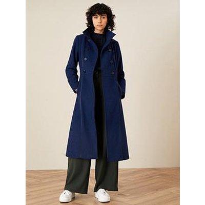 Monsoon Monsoon Rosalee Sustainable Wool Pu Tipping Coat
