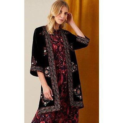 Monsoon Velvet Embroidered Kimono
