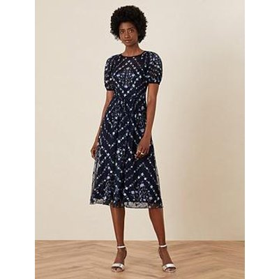 Monsoon Monsoon Hele Sustainable Embroidered Midi Dress