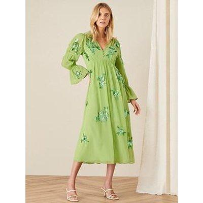 Monsoon Helena Embellished Midi Dress