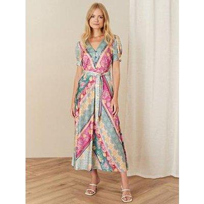 Monsoon Mai Stripe Midi Tea Dress
