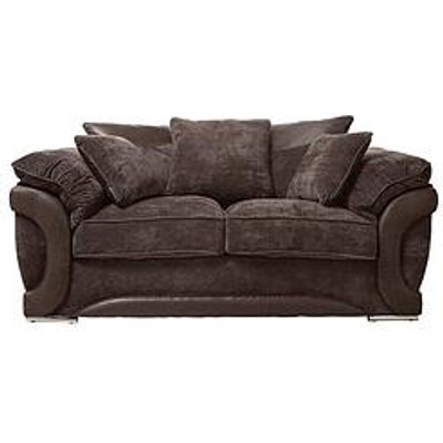 Maze Fabric And Faux Leather 2 Seater Scatter Back Sofa