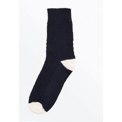 Navy Knitted Boot Sock New Look