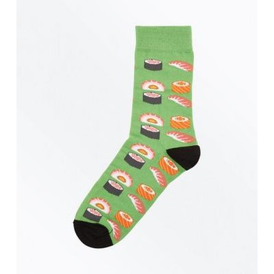 Green Sushi Roll Socks New Look
