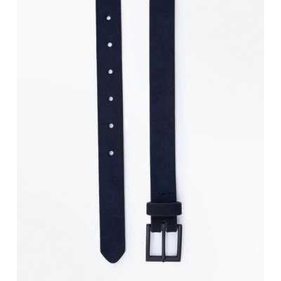Navy Faux Suede Belt New Look