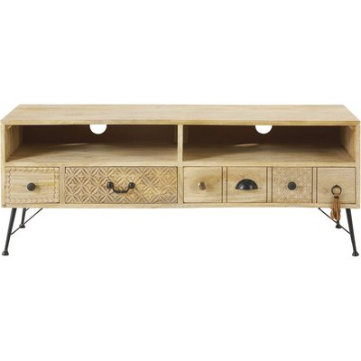 Solid Mango Wood 3-Drawer TV Unit