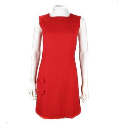 Versace Red Dress Wool Silk Gianni Couture Us 2, Red
