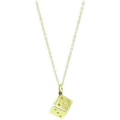 Vintage 1960s 9ct Yellow Gold Dice Charm Necklace, Gold
