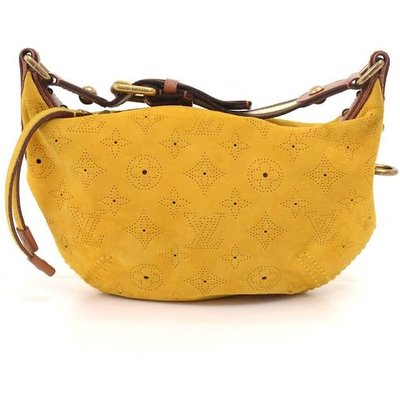 Louis Vuitton Onatah PM Yellow Fleurs Suede Leather Hobo Bag - Limited Edition, Yellow