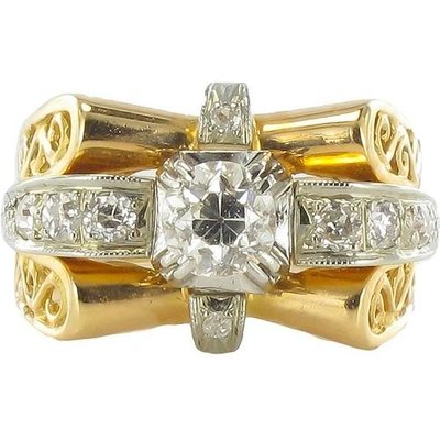 1960s French Diamond Gold Ring, Gold