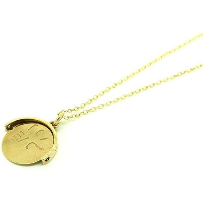 Vintage 1960s 9ct Gold I Love You Spinning Charm Necklace, Gold