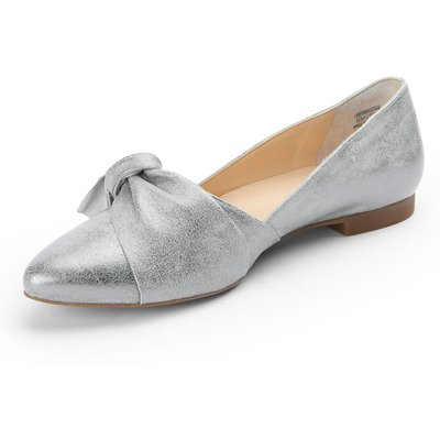 Ballerina pumps slightly pointed toe Paul Green silver