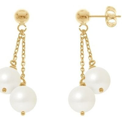 Blue Pearls  BPS K392 W  women's Earrings in Multicolour