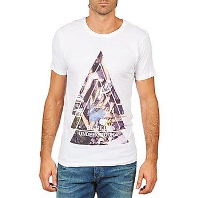 Eleven Paris  BERLIN M MEN  men's T shirt in White