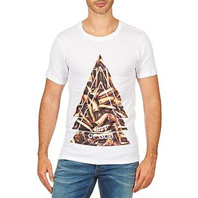 Eleven Paris  CITYGOD M MEN  men's T shirt in White