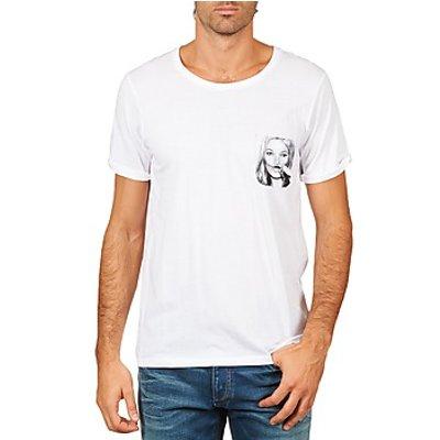 Eleven Paris  KMPOCK MEN  men's T shirt in White