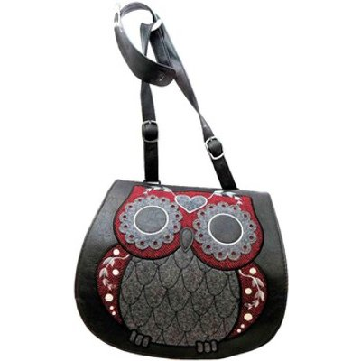 Loungefly  Tweed Owl  women s Shoulder Bag in Black - 5053466903304