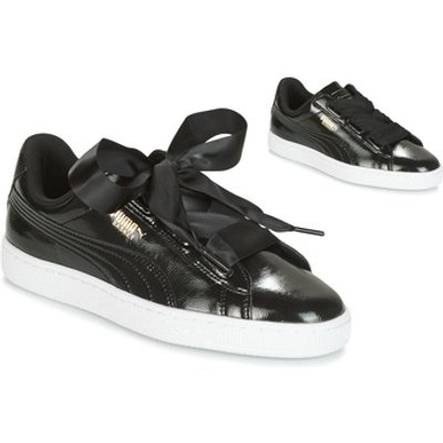 sports shoes addda 61063 Puma Basket Heart Glam Jr girls s Children s Shoes Trainers in Black