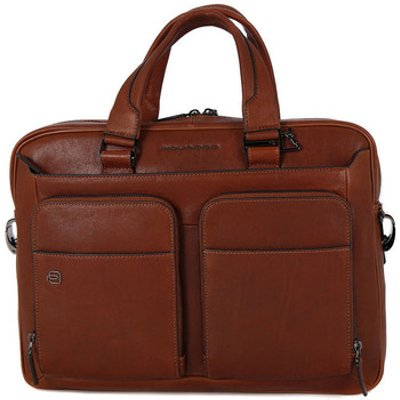 Piquadro  CARTELLA PORTA PC IN PELLE  men's Computer Bag in Brown