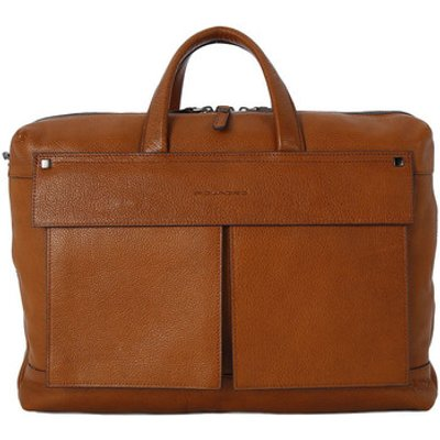 Piquadro  BORSA PORTA PC DUE MANICI  men's Computer Bag in Brown
