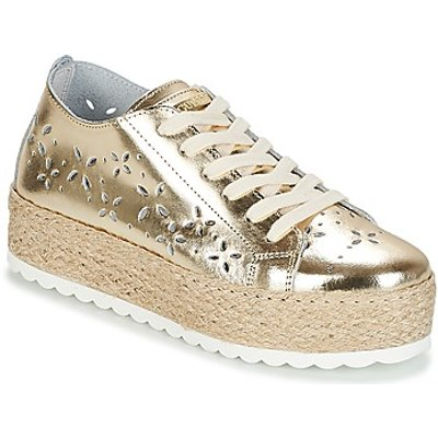 Guess  MARLEY  women s Shoes  Trainers  in Gold - 7613388658164