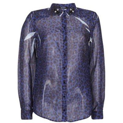 Guess  BORICE  women s Shirt in Blue - 7613366465180