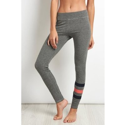 Sundry  Yoga Pant Stripes  women's Tights in Grey