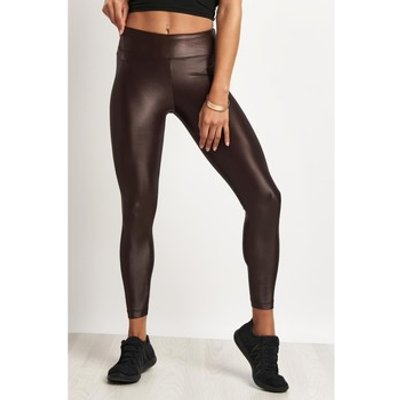 Koral  Lustrous High Rise Legging Chocolate  women's Tights in Multicolour