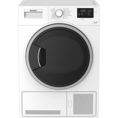 Blomberg LTK28021W B Rated 8kg Condenser Tumble Dryer, White