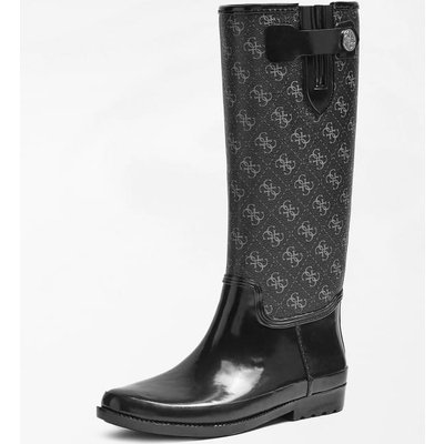 Guess Eberto Logo-Print Rain Boots, Grey