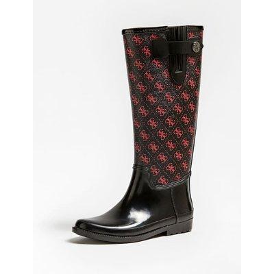 Guess Eberto Logo-Print Rain Boots, Red